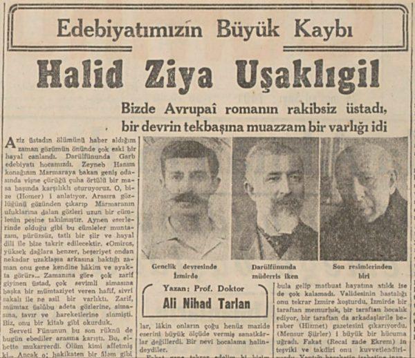 """28 Mart 1945: """"Edebiyatımızın büyük kaybı, Halit Ziya Uşaklıgil"""""""