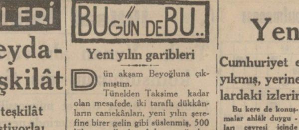 """Ercüment Ekrem'in """"Yeni yılın garibleri"""" başlıklı yazısı"""
