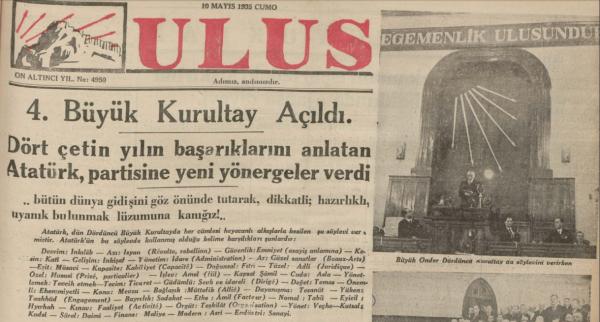 Dil Devrimini Takiben Başlayan Kılavuz Kelimeler Uygulaması: Ulus Gazetesi, 10 Mayıs 1935
