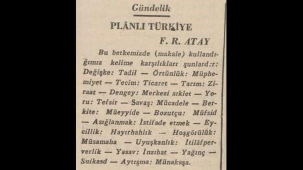 Dil Devrimini Takiben Başlayan Kılavuz Kelimeler Uygulaması: Ulus Gazetesi, 13 Mayıs 1935