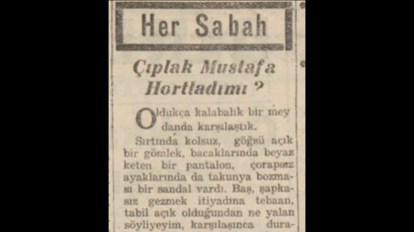 """A.C. Saraçoğlu'nun """"Çıplak Mustafa hortladı mı?"""" başlıklı yazısı"""