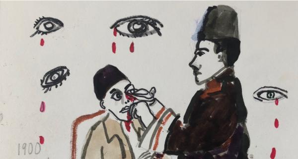"""Orhan Pamuk'un yeni romanı """"Veba Geceleri"""" için çizimleri"""
