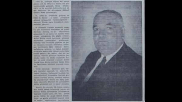 Abdülhak Şinasi Hisar'ın Yahya Kemal'in 65. yaş gününü kutladığı yazısı