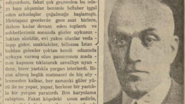 """Halit Fahri'nin """"Kadıköyünde beş yıl süren edebiyat sezonu"""" başlıklı yazısı"""
