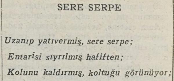 """Orhan Veli'nin """"Sere Serpe"""" isimli şiiri"""