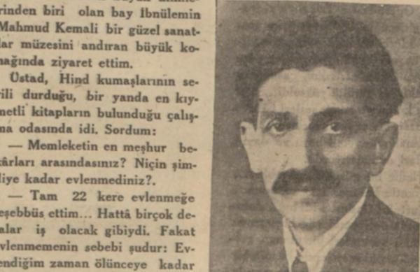 Hikmet Feridun'un İbnülemin Mahmut Kemal'le yaptığı röportaj