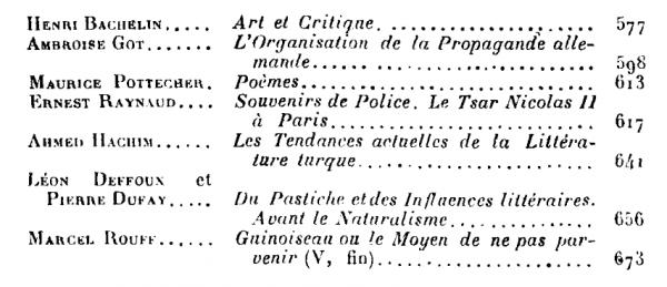 "Ahmet Haşim'in ""Les Tendances Actuelles de la Littérature Turque"" başlıklı yazısı"