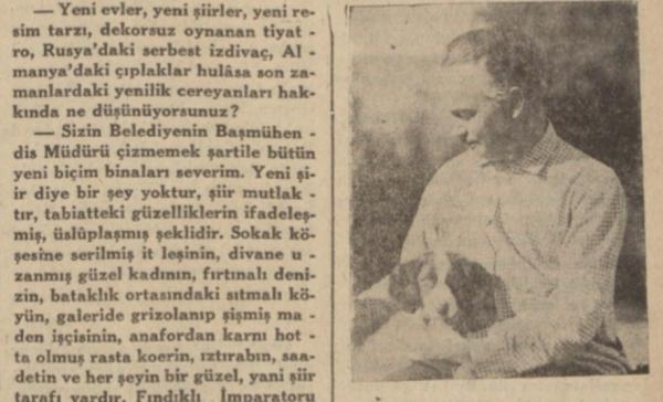 """""""30 güzide arasında bir anket: 3″ Cevat Fehmi Başkut'un Aka Gündüz ile Röportajı"""